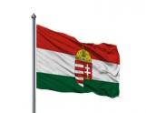 Címeres Magyar Zászló Standard 200x100