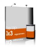 Pop-Up 3x3 Egyenes Prémium